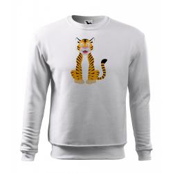 Obrázek Mikina Veselá zvířátka - Tygřík, vel. 12 let , bílá