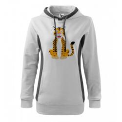 Obrázek Mikina Kangaroo - Veselá zvířátka - Tygřík, vel. M , bílá