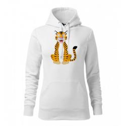 Obrázek Dámská Mikina Cape - Veselá zvířátka - Tygřík, vel. M , bílá