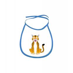Obrázek Dětský bryndák Veselá zvířátka - Tygřík - modrý