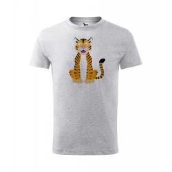 Obrázek Dětské Tričko Classic New - Veselá zvířátka - Tygřík, vel. 6 let , šedý melír