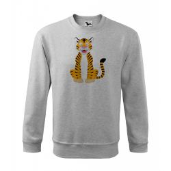 Obrázek Mikina Veselá zvířátka - Tygřík, vel. XL , šedý melír