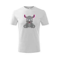 Obrázek Dětské Tričko Classic New - Veselá zvířátka - Nosorožec, vel. 6 let , bílá