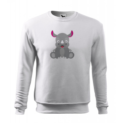 Obrázek Mikina Veselá zvířátka - Nosorožec, vel. 12 let , bílá