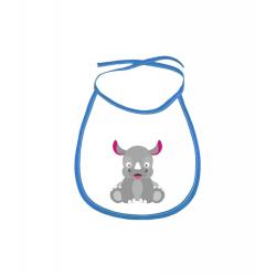 Obrázek Dětský bryndák Veselá zvířátka - Nosorožec - modrý