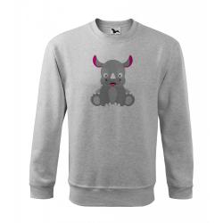 Obrázek Mikina Veselá zvířátka - Nosorožec, vel. L , šedý melír
