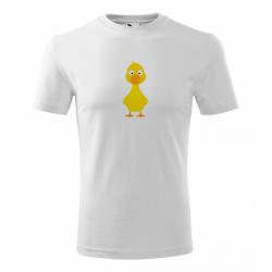 Obrázek Pánské Tričko Classic New - Veselá zvířátka - Kačenka, vel. S , bílá