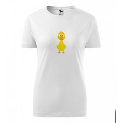 Obrázek Dámské Tričko Classic New - Veselá zvířátka - Kačenka, vel. S , bílá