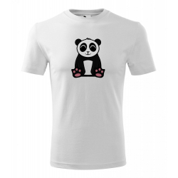 Obrázek Pánské Tričko Classic New - Tučňák a jeho kamarádi - #2 panda velká, vel. M , bílá