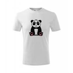 Obrázek Dětské Tričko Classic New - Tučňák a jeho kamarádi - #2 panda velká, vel. 6 let , bílá