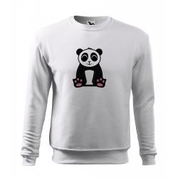 Obrázek Mikina Essential - Tučňák a jeho kamarádi - #2 panda velká, vel. 12 let - bílá