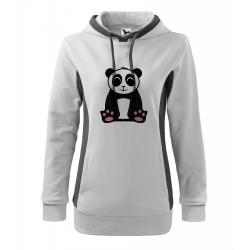 Obrázek Mikina Kangaroo - Tučňák a jeho kamarádi - #2 panda velká, vel. M - bílá