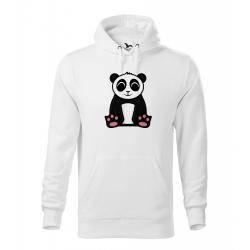 Obrázek Pánská Mikina Cape - Tučňák a jeho kamarádi - #2 panda velká, vel. M - bílá