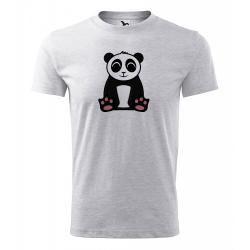 Obrázek Pánské Tričko Classic New - Tučňák a jeho kamarádi - #2 panda velká, vel. S , šedý melír