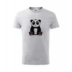 Obrázek Dětské Tričko Classic New - Tučňák a jeho kamarádi - #2 panda velká, vel. 6 let , šedý melír