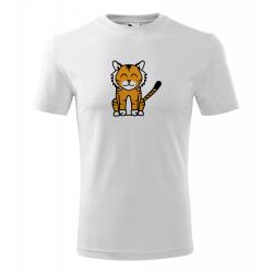 Obrázek Pánské Tričko Classic New - Tučňák a jeho kamarádi - #3 tygr indický, vel. S - bílá