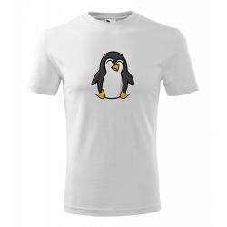 Obrázek Pánské Tričko Classic New - Tučňák a jeho kamarádi - #4 tučňák císařský, vel. S , bílá