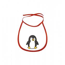 Obrázek Dětský bryndák Tučňák a jeho kamarádi - #4 tučňák císařský - červený