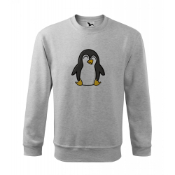 Obrázek Mikina Essential - Tučňák a jeho kamarádi - #4 tučňák císařský, vel. 12 let , šedý melír