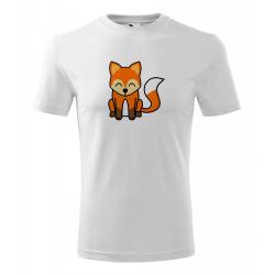 Obrázek Pánské Tričko Classic New - Tučňák a jeho kamarádi - #5 liška obecná, vel. S - bílá
