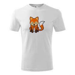 Obrázek Pánské Tričko Classic New - Tučňák a jeho kamarádi - #5 liška obecná, vel. S , bílá