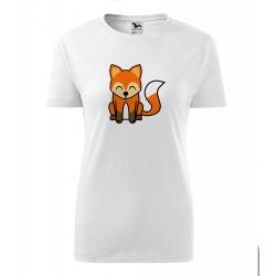 Obrázek Dámské Tričko Classic New - Tučňák a jeho kamarádi - #5 liška obecná, vel. S , bílá