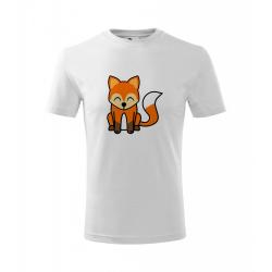 Obrázek Mikina Essential - Tučňák a jeho kamarádi - #5 liška obecná, vel. 12 let , bílá