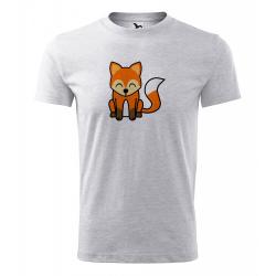 Obrázek Pánské Tričko Classic New - Tučňák a jeho kamarádi - #5 liška obecná, vel. S , šedý melír