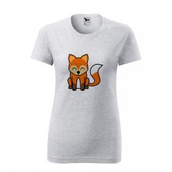 Obrázek Dámské Tričko Classic New - Tučňák a jeho kamarádi - #5 liška obecná, vel. S , šedý melír
