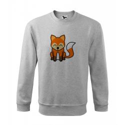 Obrázek Mikina Essential - Tučňák a jeho kamarádi - #5 liška obecná, vel. 12 let - šedý melír