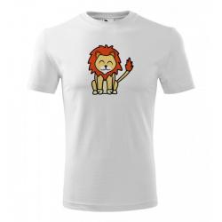 Obrázek Pánské Tričko Classic New - Tučňák a jeho kamarádi - #6 lev pustinný, vel. S , bílá