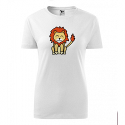 Obrázek Dámské Tričko Classic New - Tučňák a jeho kamarádi - #6 lev pustinný, vel. 2XL , bílá