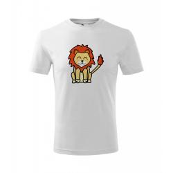 Obrázek Dětské Tričko Classic New - Tučňák a jeho kamarádi - #6 lev pustinný, vel. 6 let , bílá