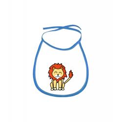 Obrázek Dětský bryndák Tučňák a jeho kamarádi - #6 lev pustinný - modrý