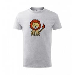 Obrázek Dětské Tričko Classic New - Tučňák a jeho kamarádi - #6 lev pustinný, vel. 8 let , šedý melír