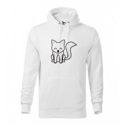 Obrázek Mikina Essential - Tučňák a jeho kamarádi - #7 liška polární, vel. 12 let - bílá