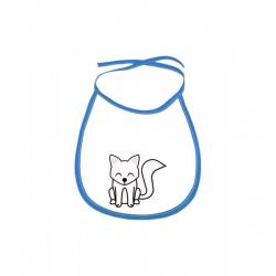 Obrázek Dětský bryndák Tučňák a jeho kamarádi - #7 liška polární - modrý