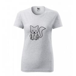 Obrázek Dámské Tričko Classic New - Tučňák a jeho kamarádi - #7 liška polární, vel. S , šedý melír