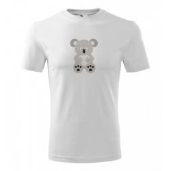 Obrázek Pánské Tričko Classic New - Veselá zvířátka - Koala, vel. S - bílá