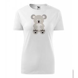 Obrázek Dámské Tričko Classic New - Veselá zvířátka - Koala, vel. S , bílá