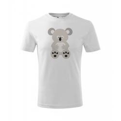 Obrázek Dětské Tričko Classic New - Veselá zvířátka - Koala, vel. 6 let - bílá