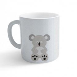 Obrázek Hrnek Veselá zvířátka - Koala - třpytivý stříbrný