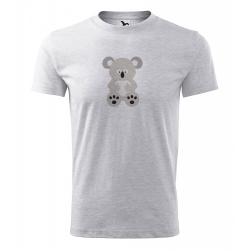 Obrázek Pánské Tričko Classic New - Veselá zvířátka - Koala, vel. S , šedý melír