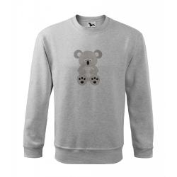 Obrázek Mikina Essential - Veselá zvířátka - Koala, vel. 12 let - šedý melír