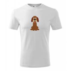 Obrázek Pánské Tričko Classic New - Veselá zvířátka - Pejsek, vel. S , bílá