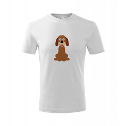 Obrázek Dětské Tričko Classic New - Veselá zvířátka - Pejsek, vel. 6 let - bílá
