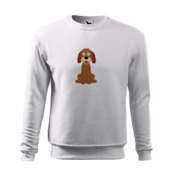 Obrázek Mikina Essential - Veselá zvířátka - Pejsek, vel. 12 let - bílá