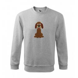 Obrázek Mikina Essential - Veselá zvířátka - Pejsek, vel. 12 let - šedý melír