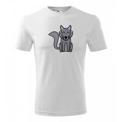 Obrázek Pánské Tričko Classic New - Tučňák a jeho kamarádi - #8 vlk obecný, vel. S , bílá