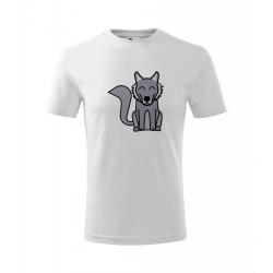 Obrázek Dětské Tričko Classic New - Tučňák a jeho kamarádi - #8 vlk obecný, vel. 6 let , bílá